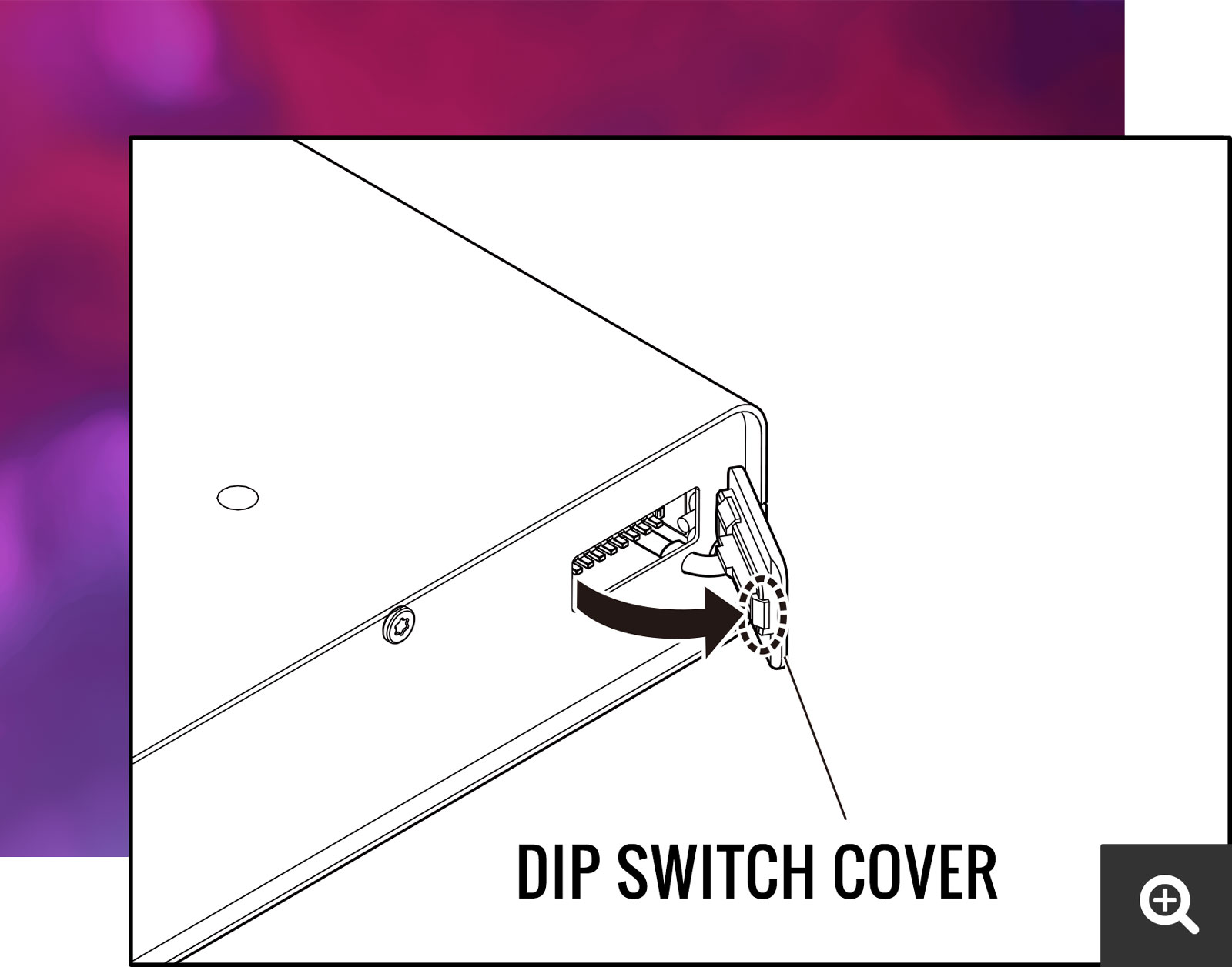 Dip Switch Cover