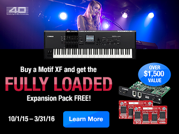 Buy a Motif XF and receive The Motif XF Fully Loaded Expansion Pack - FREE!