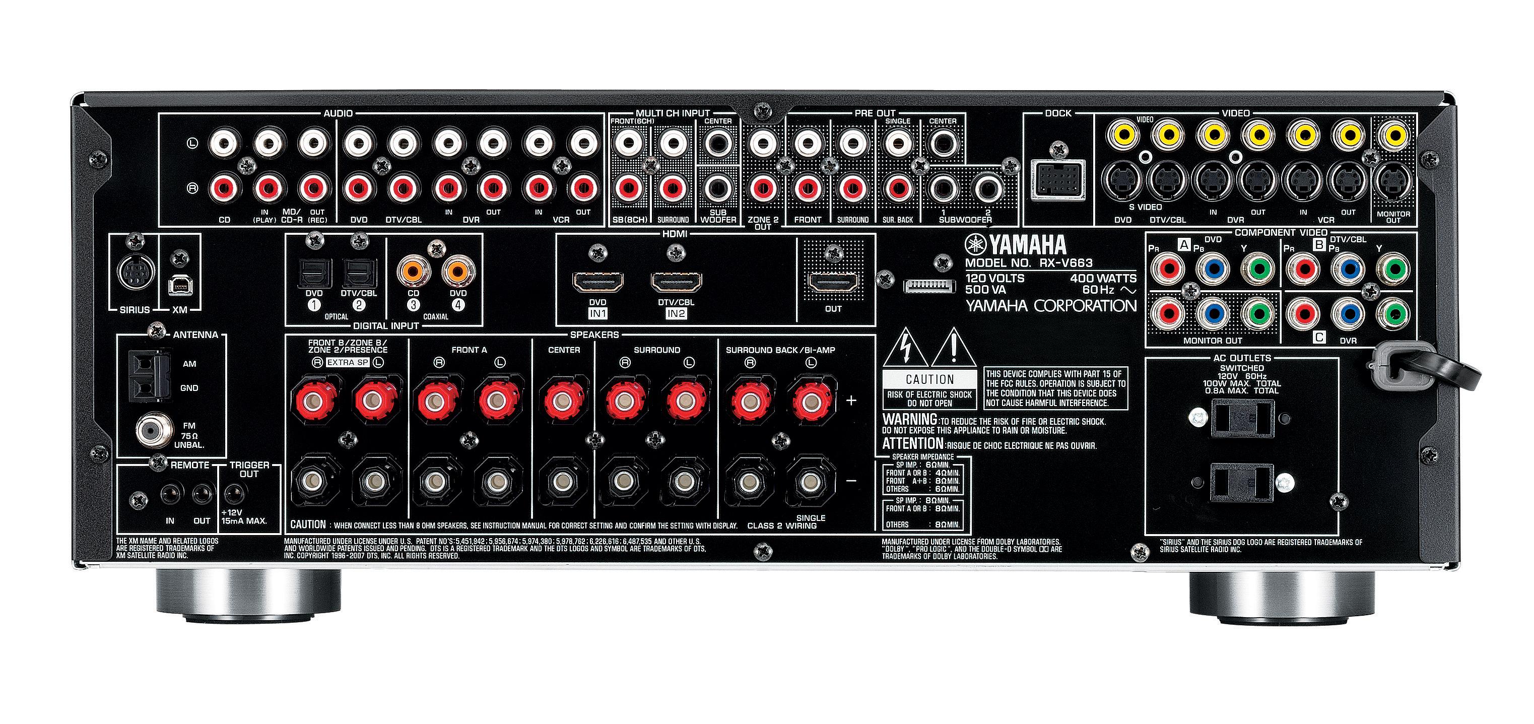 yamaha receiver manual rx v679