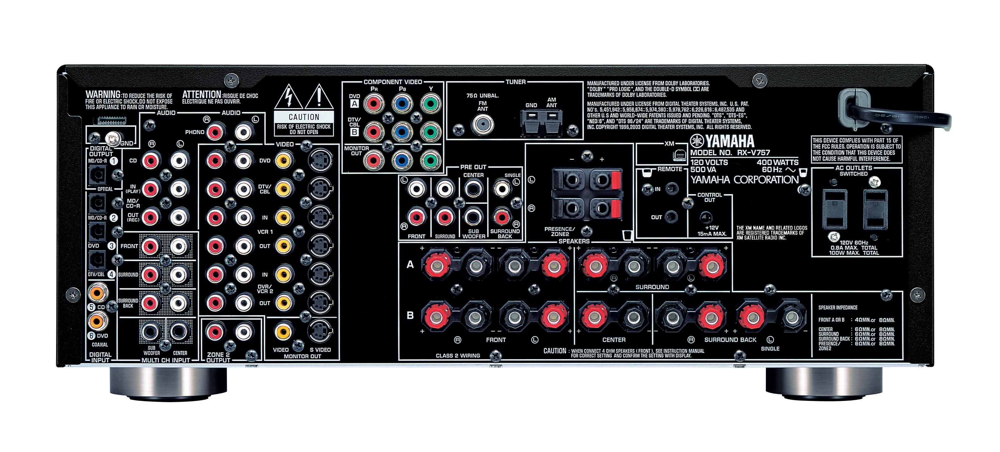 yamaha rx v657 service manual