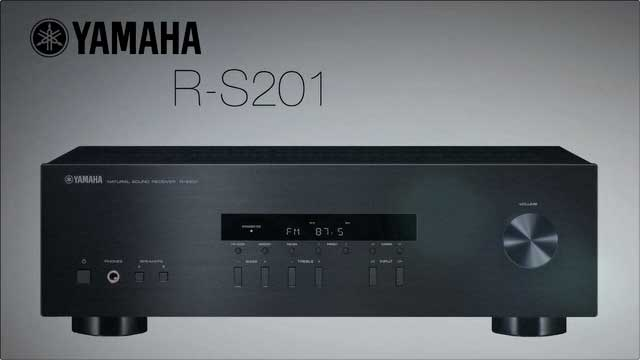 Image result for Yamaha R-S201BL Natural-Sound Stereo Receiver