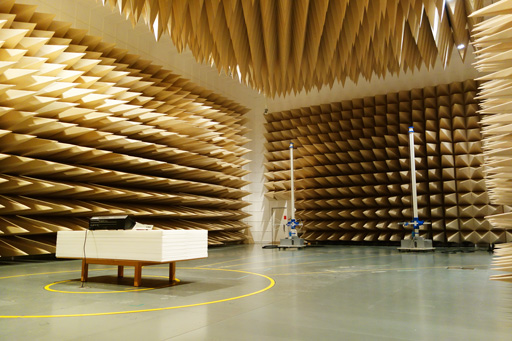 [ image ] An anechoic chamber used for electromagnetic wave measurement