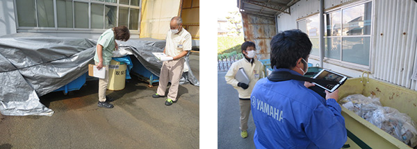 [ photo ] Environmental audit conducted by auditing staff of Yamaha Corporation's Environmental Division