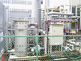 [ image ] Groundwater purification equipment at the headquarters office