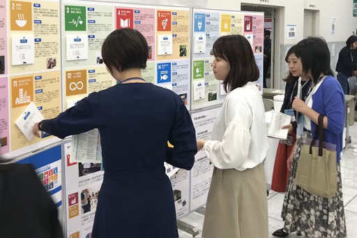 [ photo ] SDGs exhibition at Company event