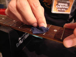 Maintaining the fingerboard and frets