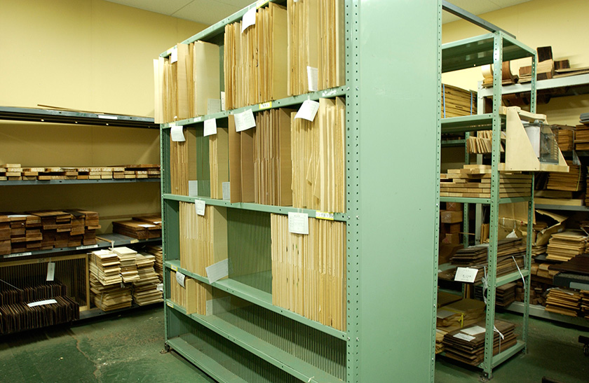 Wood should be stored in a dehumidifying room where humidity is constantly monitored.