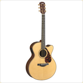 An electric acoustic guitar (Yamaha LJX26CP)