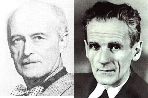 Left: Jacques Ibert, Right: Marcel Moyse