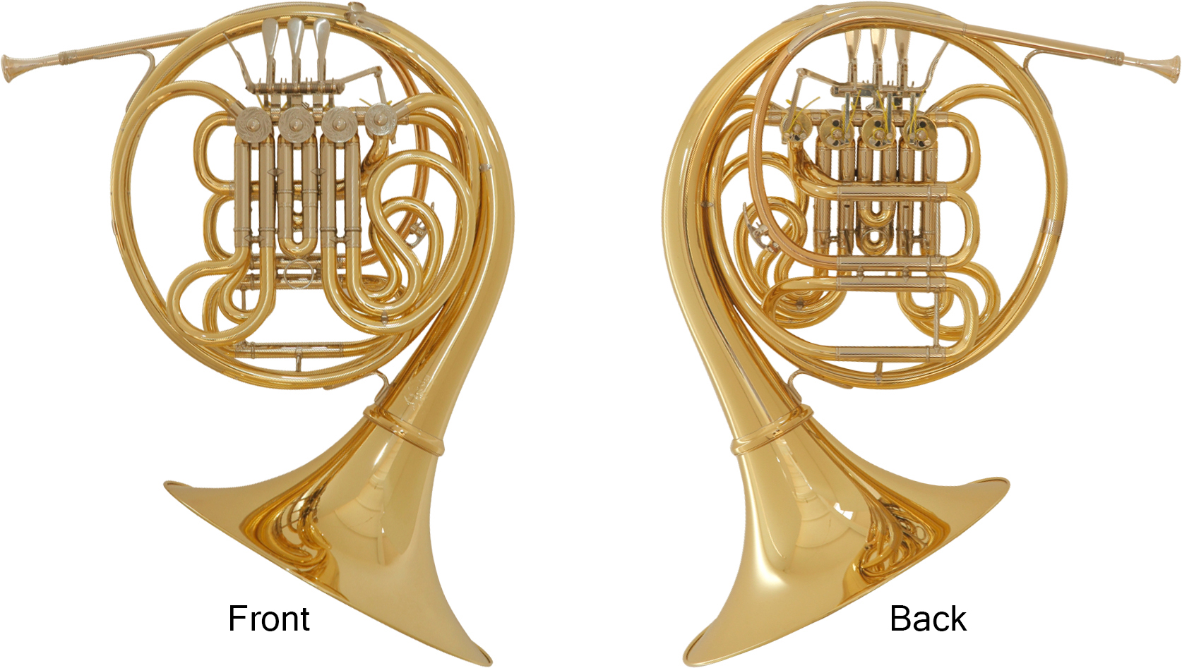 Names of the parts on the F/B♭ double horn
