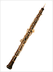 An oboe made from king rosewood