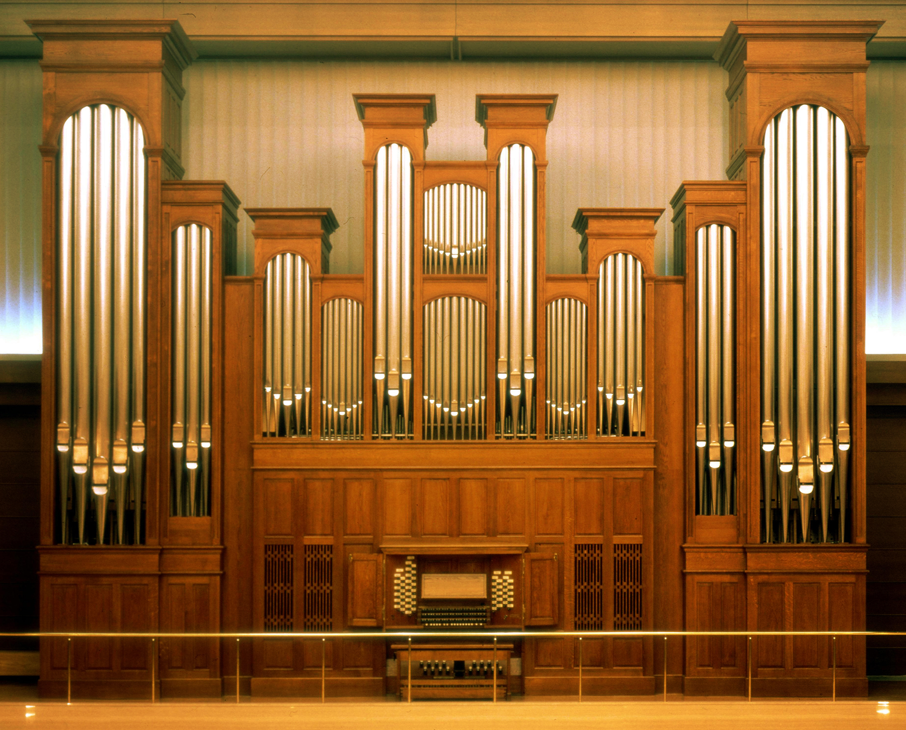 Names of the parts of a pipe organ