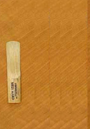 Wooden reed (left) and transparent silicon reed (right)