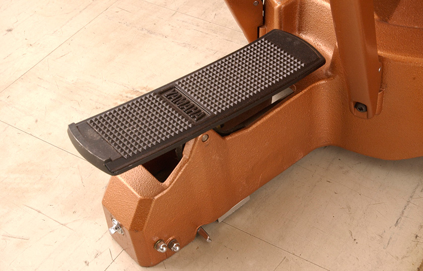 Balanced action pedal-easy to operate