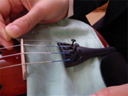 Spread a cloth to avoid damaging the instrument.