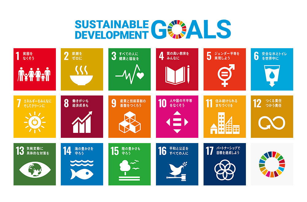 [ 図 ] 持続可能な開発目標(Sustainable Development Goals : SDGs)