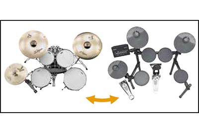[ 画像 ] アコースティックドラムに近いセッティングが可能