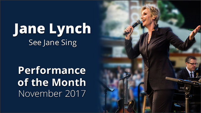 Jane Lynch: See Jane Sing Performance of the Month