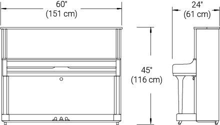Line drawings showing dimensions.