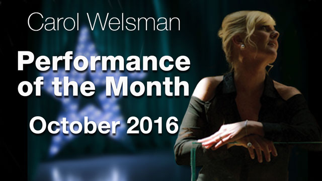 Carol Welsman - Performance of the Month : October 2016