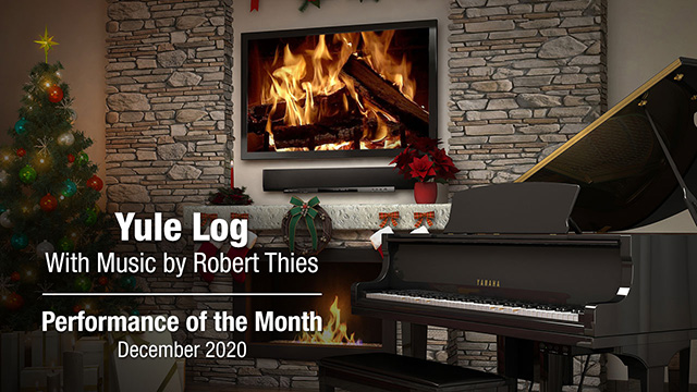 POM: Yule Log Music by Robert Thies : December, 2020