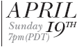 Day of Jazz Violin Sunday, April 19th, 7PM PDT