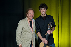 Lee Ritenour with Shon Boubil, Winner of the Six String Theory Guitar Competition