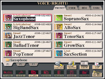 Tyros2 Voice Sax Category