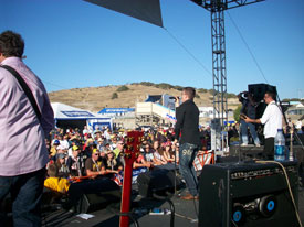 James Toseland & Crash Perform at Laguna Seca