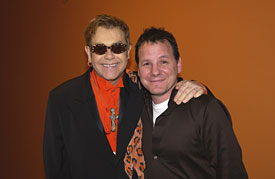 Elton John and Chris Gero