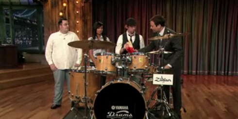 Jimmy Fallon Show Drum Kit Giveaway