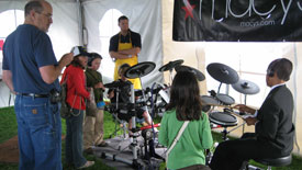 Instrument Petting Zoo at the Monterey Jazz Festival