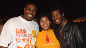 Teddy Campbell, Nikki Glaspie and Felix Pollard