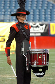 Crossmen Drum Corp member