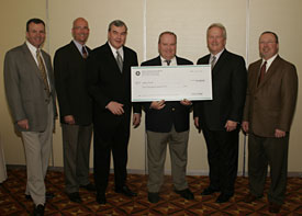 Road Representative of the Year Receives Check
