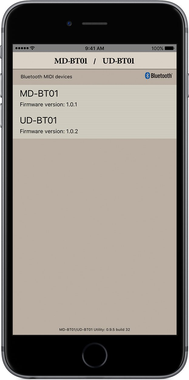 MD-BT01/UD-BT01 Utility - Overview - Apps - Pianos - Musical