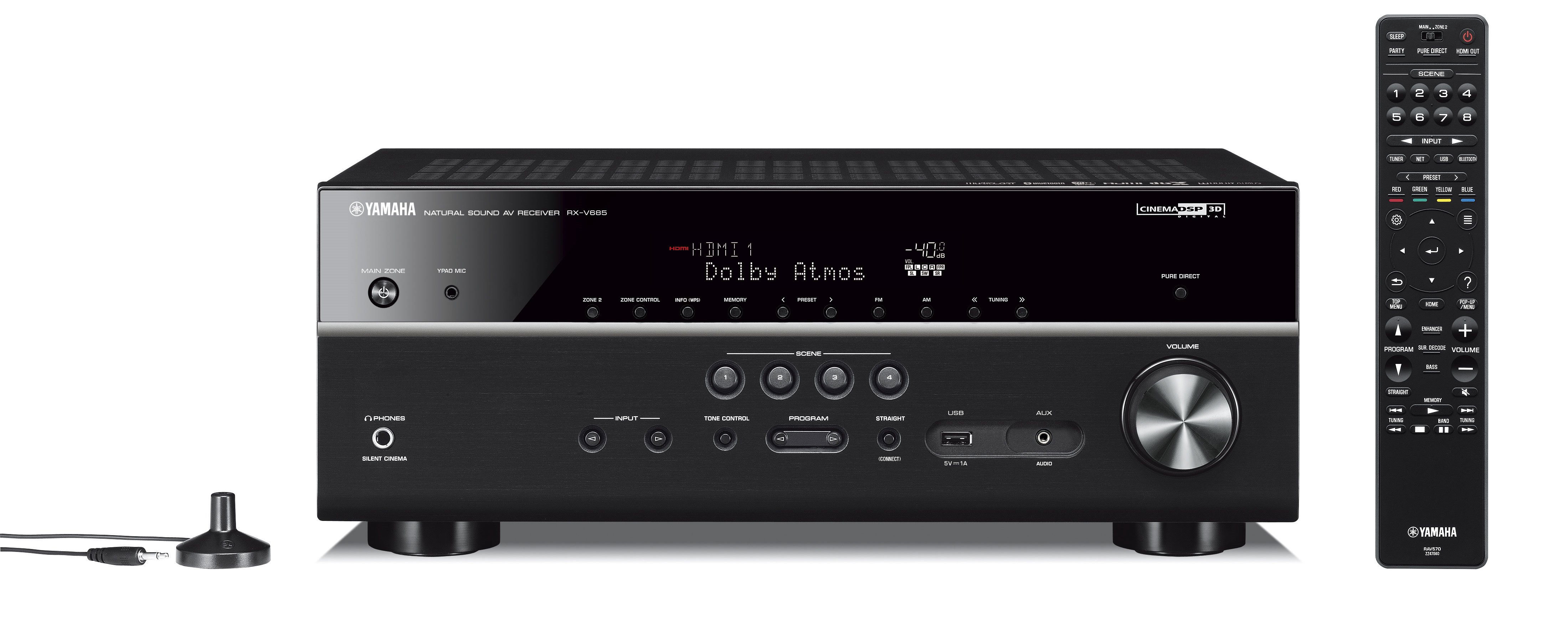 RX-V685 7.2-Channel AV Receiver with MusicCast