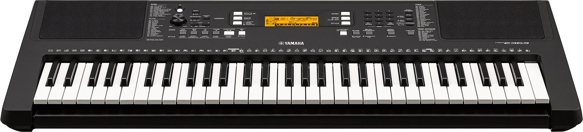 Psr E363 Overview Portable Keyboards Keyboard Instruments Yamaha Wiring Diagram Touch Sensitive Keys Allow For Expressive Dynamic Performances