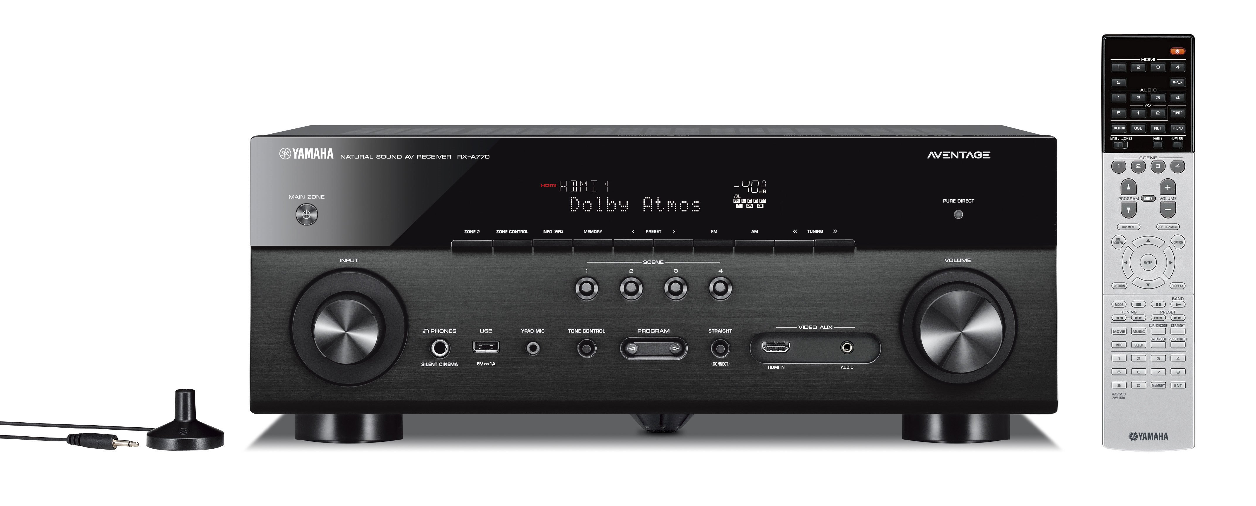Rx A770 Overview Av Receivers Audio Visual Products Power Amplifier Compatible With Tv Discontinued