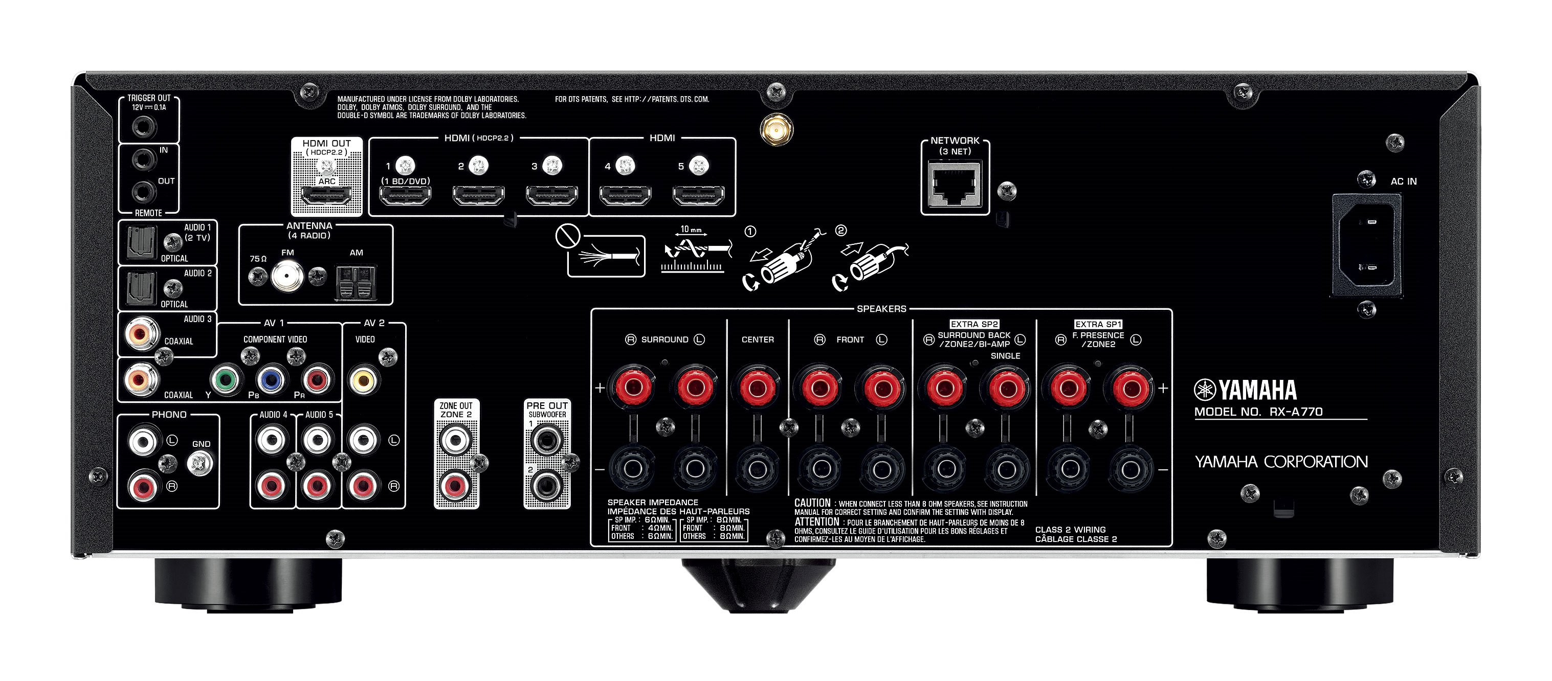 Rx A770 Overview Av Receivers Audio Visual Products Ipad Usb Wiring Diagram Previous