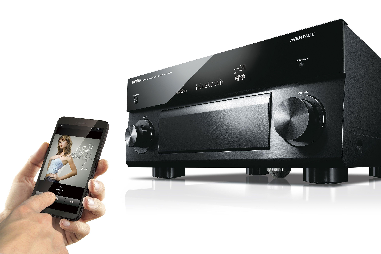 Yamaha RX-A3070BL 9.2 Channel AVENTAGE Network AV Receiver Bundled With 1 Black Yamaha WX-010 MusicCast Wireless Speaker