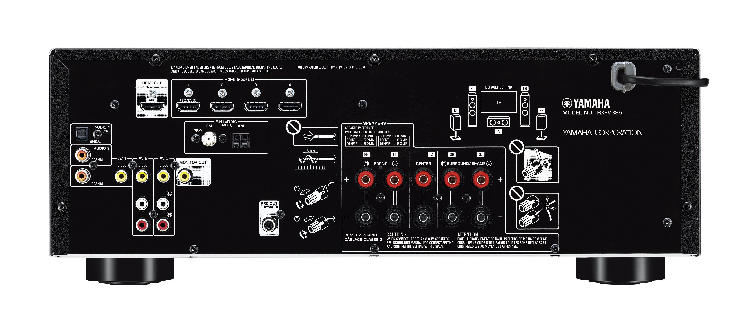 Rx V385 Overview Av Receivers Audio Visual Products Yamaha X Max Wiring Diagram 25995 29995