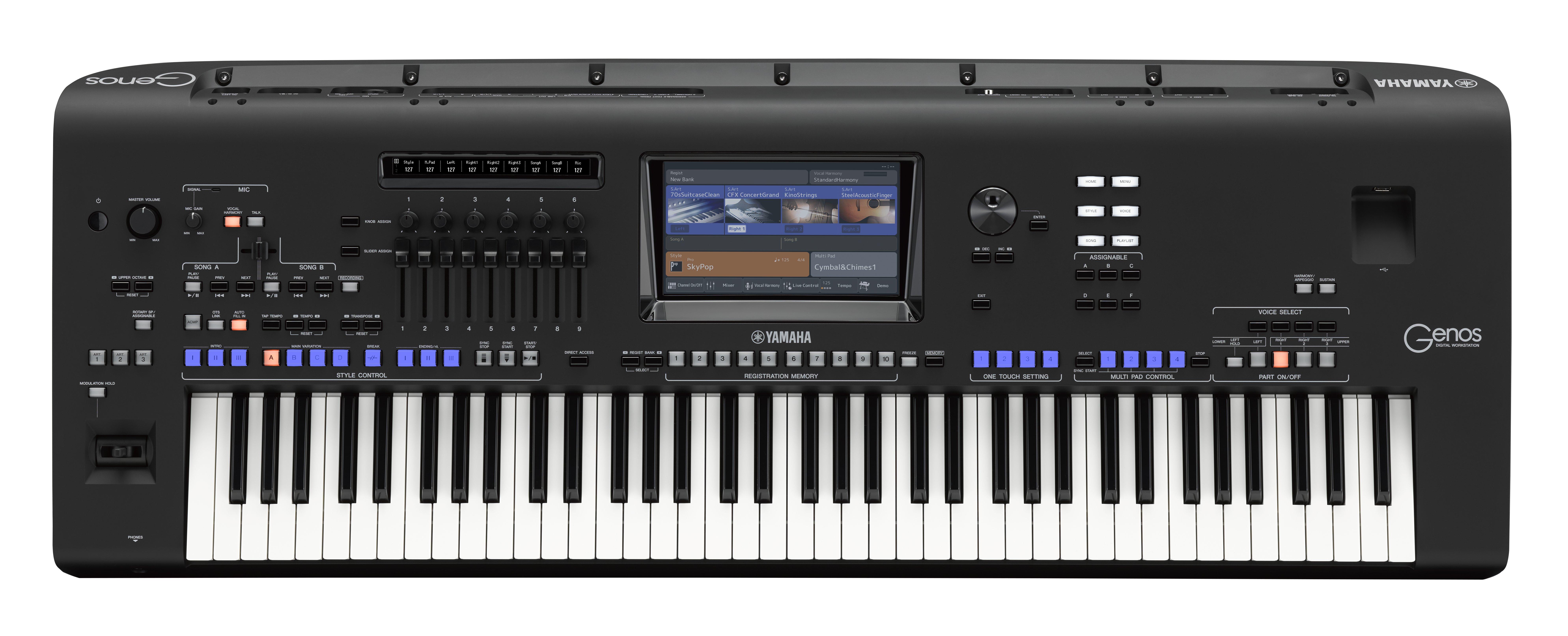 Genos - Specs - Digital and Arranger Workstations - Keyboard