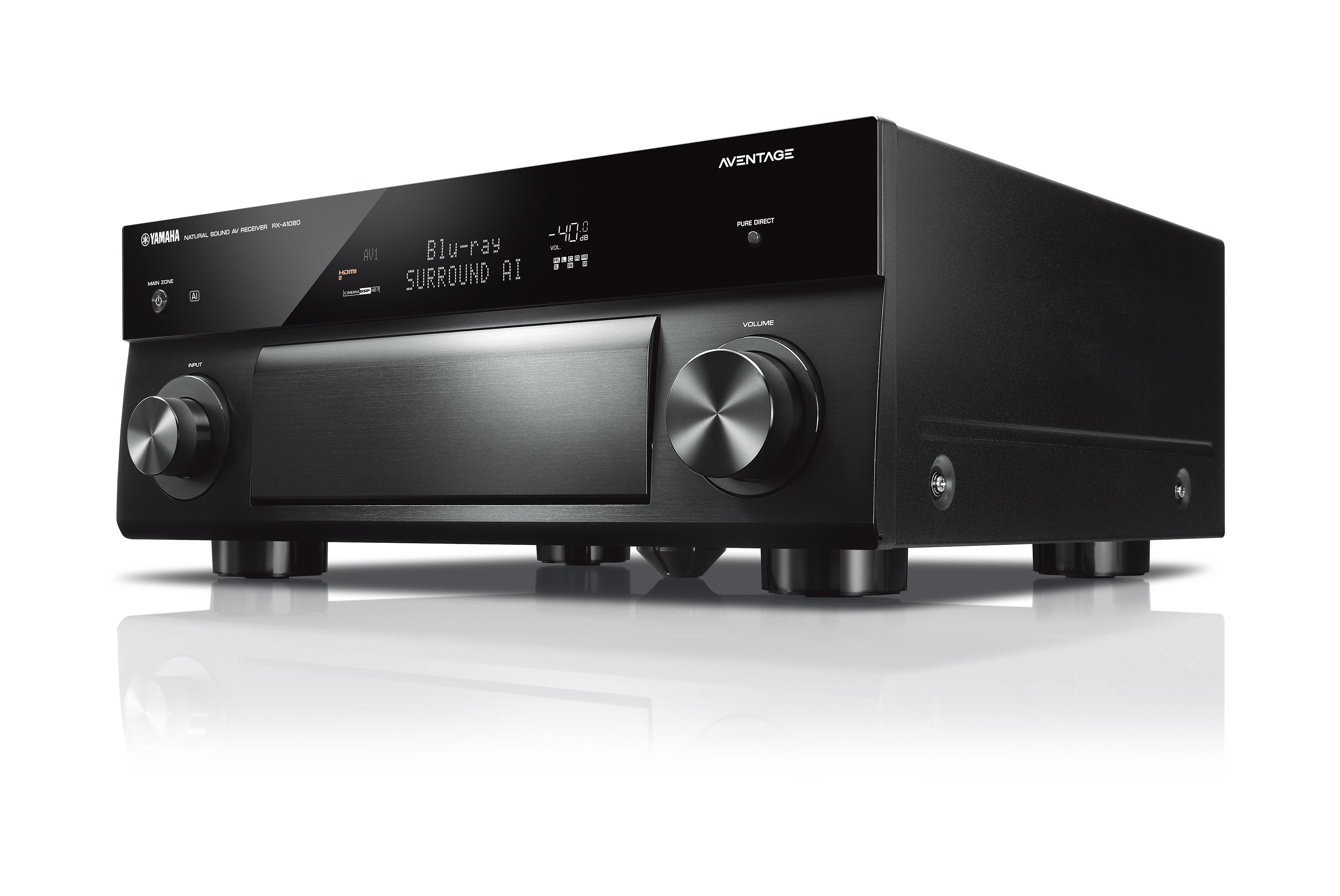 Yamaha RX-A1080 Black 7.2 Channel A/V Receiver with MusicCast