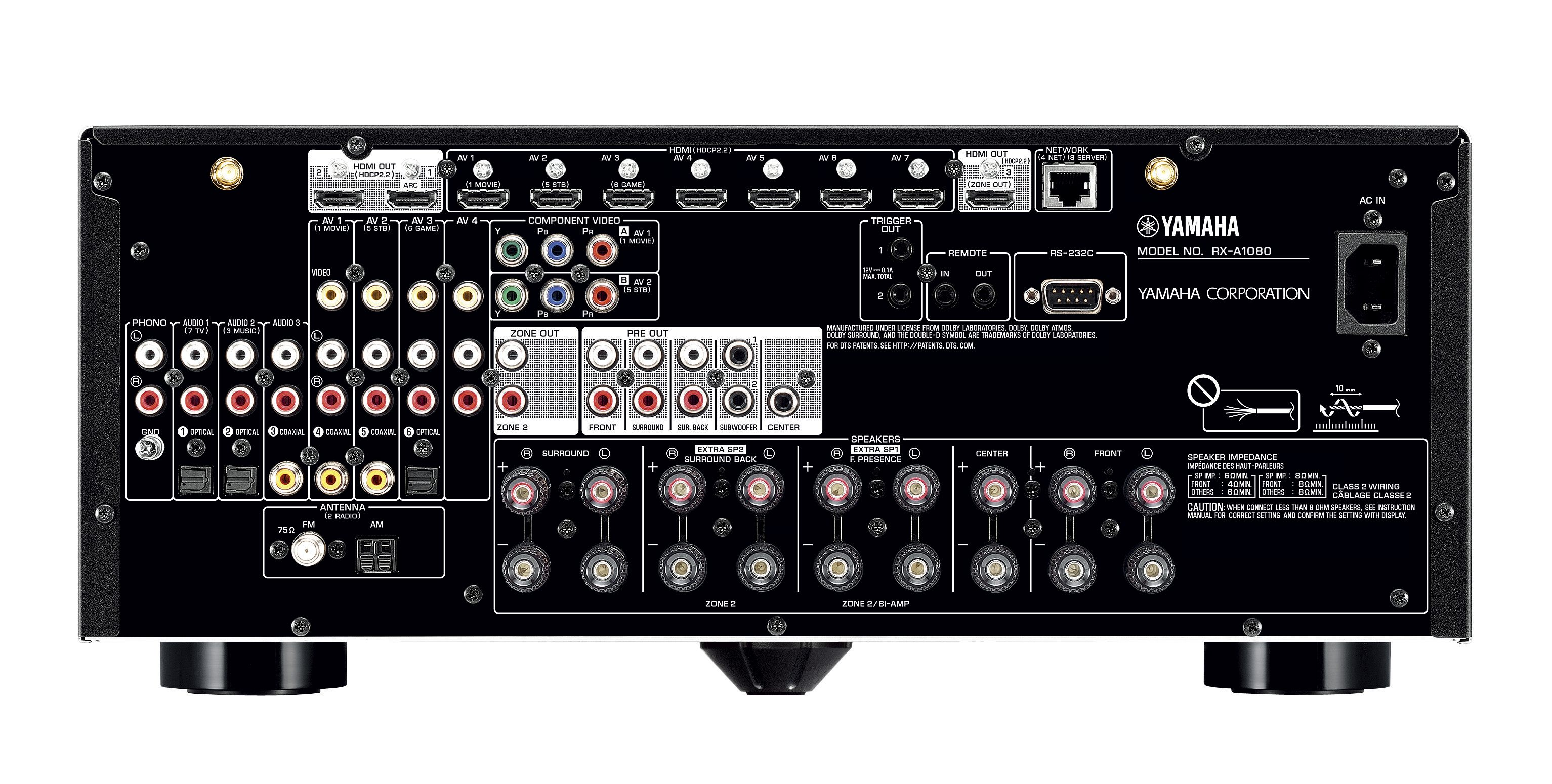RX-A1080 - Support - AV Receivers - Audio & Visual