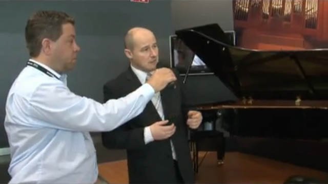 Product Presentation of the Premium Piano CF Series at Musikmesse Frankfurt 2010