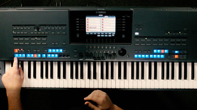 Arranger Workstation Demo: 2 - Style Control Section