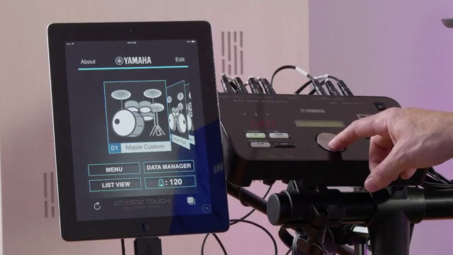 Yamaha DTX502 Touch App Overview