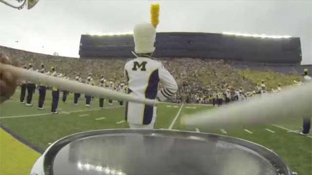 DrumCams 2013 - University of Michigan Pregame