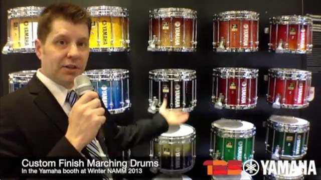 Custom Marching Drums at NAMM 2013